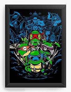Quadro Decorativo A3 (45X33) Geekz Tartarugas Ninjas - Loja Nerd e Geek - Presentes Criativos