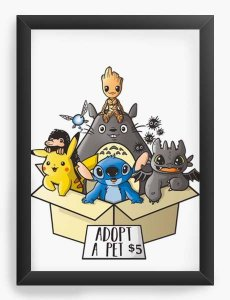 Quadro Decorativo A3 (45X33) Geekz Tree Family - Loja Nerd e Geek - Presentes Criativos