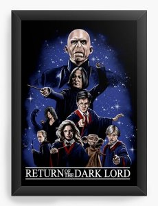 Quadro Decorativo A3 (45X33) Geekz Wizard Return of the Dark lord - Loja Nerd e Geek - Presentes Criativos