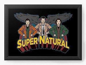 Quadro Decorativo A3 (45X33) Supernatural - Loja Nerd e Geek - Presentes Criativos