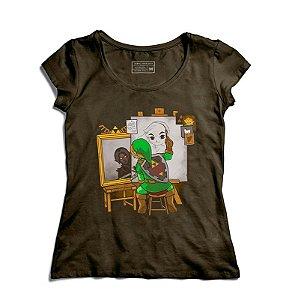 Camiseta Feminina Elf Artista - Loja Nerd e Geek - Presentes Criativos