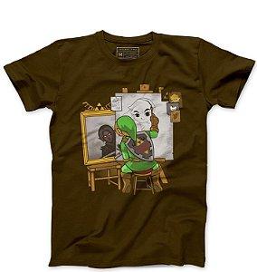 Camiseta Masculina Elf Artista - Loja Nerd e Geek - Presentes Criativos