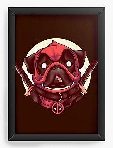 Quadro Decorativo A4 (33X24) Geekz Dog Ninja - Loja Nerd e Geek - Presentes Criativos