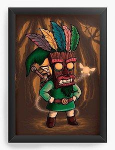 Quadro Decorativo A4 (33X24) Geekz Elf O Mascara  - Loja Nerd e Geek - Presentes Criativos