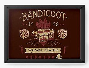 Quadro Decorativo A4 (33X24) Geekz Bandicoot 96 - Loja Nerd e Geek - Presentes Criativos