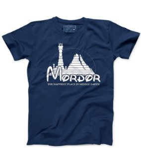 Camiseta Masculina Mordor - Loja Nerd e Geek - Presentes Criativos