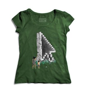 Camiseta Feminina Civilização Antiga - Loja Nerd e Geek - Presentes Criativos