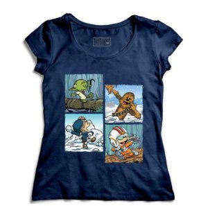 Camiseta Feminina Space Wars Photo - Loja Nerd e Geek - Presentes Criativos