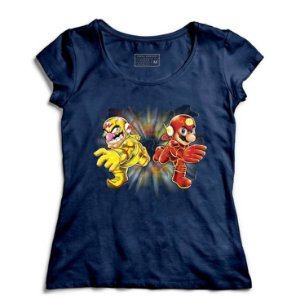 Camiseta Feminina Flash Bros - Loja Nerd e Geek - Presentes Criativos