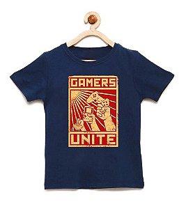 Camiseta Infantil Gamers - Loja Nerd e Geek - Presentes Criativos