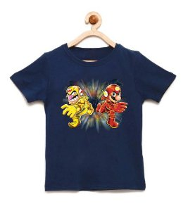 Camiseta Infantil Flash Bros - Loja Nerd e Geek - Presentes Criativos