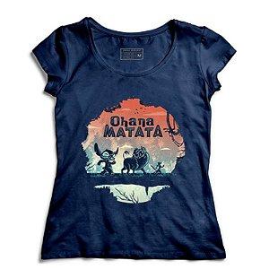 Camiseta Feminina Stitch Matata - Loja Nerd e Geek - Presentes Criativos