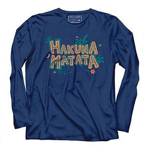 Camiseta Manga Longa Hakuna Matata - Loja Nerd e Geek - Presentes Criativos