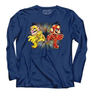 Camiseta Manga Flash Bros- Loja Nerd e Geek - Presentes Criativos