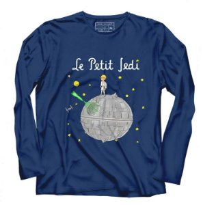 Camiseta Manga Longa Space Wars La Petiti - Presentes Criativos