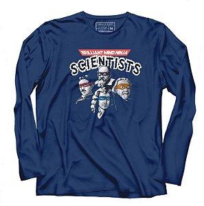 Camiseta Manga Cientistas - Loja Nerd e Geek - Presentes Criativos