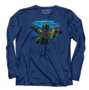 Camiseta Manga Thanos Infinity - Loja Nerd e Geek - Presentes Criativos