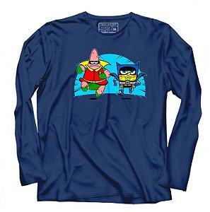 Camiseta Manga longa Batcave- Loja Nerd e Geek - Presentes Criativos