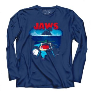 Camiseta Manga longa Jaws - Loja Nerd e Geek - Presentes Criativos