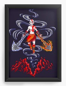 Quadro Decorativo A4 (33X24) The Last Warbender - Loja Nerd e Geek - Presentes Criativos