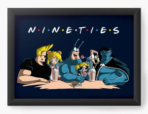 Quadro Decorativo A4 (33X24) Friends - Loja Nerd e Geek - Presentes Criativos