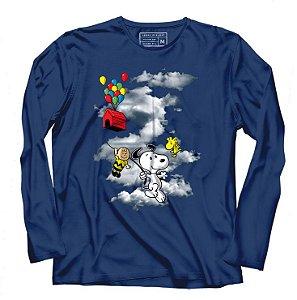 Camiseta Manga Longa UP Dog - Mundo da Lua - Loja Nerd e Geek - Presentes Criativos