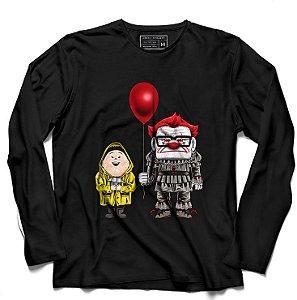 Camiseta Manga Longa UP Terror as Altura- Loja Nerd e Geek - Presentes Criativos