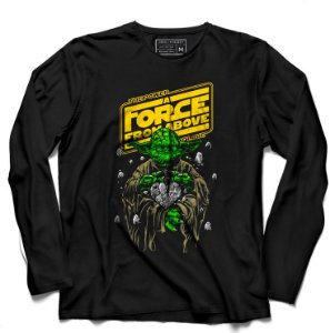 Camiseta Manga Longa The Force - Loja Nerd e Geek - Presentes Criativos