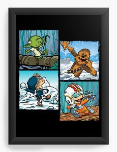 Quadro Decorativo A4 (33X24) Space Wars Photo - Loja Nerd e Geek - Presentes Criativos