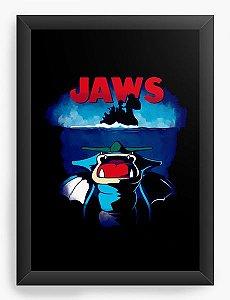 Quadro Decorativo A4 (33X24) Jaws - Loja Nerd e Geek - Presentes Criativos