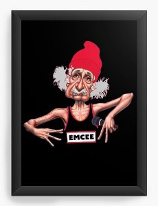 Quadro Decorativo A4 (33X24) Einstein - Loja Nerd e Geek - Presentes Criativos