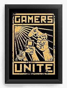 Quadro Decorativo A4 (33X24) Gamers - Loja Nerd e Geek - Presentes Criativos
