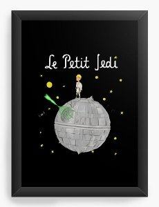 Quadro Decorativo A4 (33X24) Space Wars La Petiti - Loja Nerd e Geek - Presentes Criativos