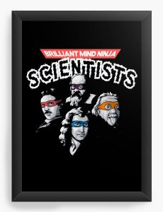 Quadro Decorativo A4 (33X24) Cientistas - Loja Nerd e Geek - Presentes Criativos