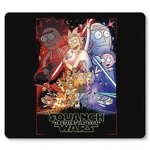 Mouse Pad Squanch Wars - Loja Nerd e Geek - Presentes Criativos