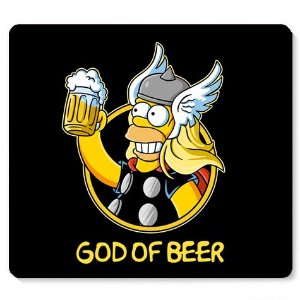 Mouse Pad God Of Beer - Loja Nerd e Geek - Presentes Criativos