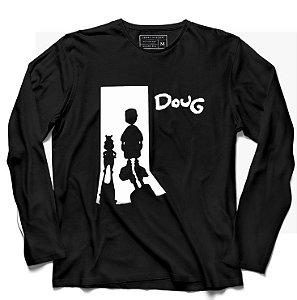 Camiseta Manga Longa Doug - Loja Nerd e Geek - Presentes Criativos