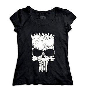 Camiseta Feminina Skull Bart - Loja Nerd e Geek - Presentes Criativos