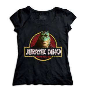 Camiseta Feminina Jurassic Dino - Loja Nerd e Geek - Presentes Criativos