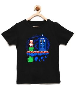 Camiseta Infantil Warp Zone - Loja Nerd e Geek - Presentes Criativos