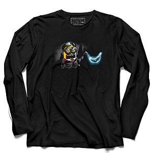 Camiseta Manga Longa Mine Bruxo - Loja Nerd e Geek - Presentes Criativos