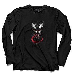 Camiseta Manga Longa Venom - Loja Nerd e Geek - Presentes Criativos