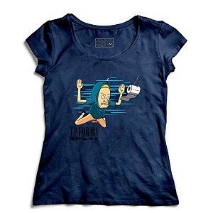 Camiseta Feminina Beavis Nevermind - Loja Nerd e Geek - Presentes Criativos