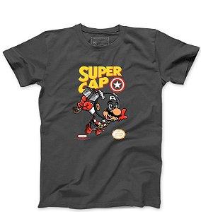 Camiseta Masculina Super Cap - Loja Nerd e Geek - Presentes Criativos