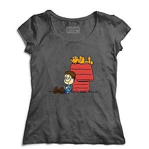 Camiseta Feminina Garfield - Loja Nerd e Geek - Presentes Criativos