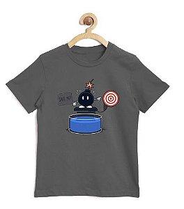 Camiseta Infantil Jogo Explosivo - Loja Nerd e Geek - Presentes Criativos