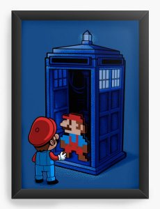 Quadro Decorativo A4 (33X24) Back To 8 Bits - Loja Nerd e Geek - Presentes Criativos