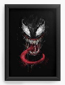 Quadro Decorativo A4 (33X24) Venom - Loja Nerd e Geek - Presentes Criativos
