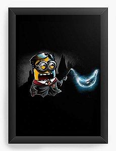 Quadro Decorativo A4 (33X24) Mine Bruxo - Loja Nerd e Geek - Presentes Criativos