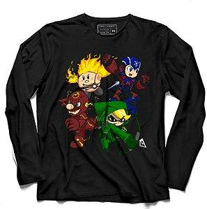 Camiseta Manga Longa Pad Plumber e Elf - Loja Nerd e Geek - Presentes Criativos
